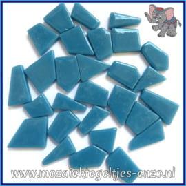 Glasmozaiek steentjes Snippets Puzzel Stukjes Normaal - Enkele Kleuren - per 50 gram - Lake Blue