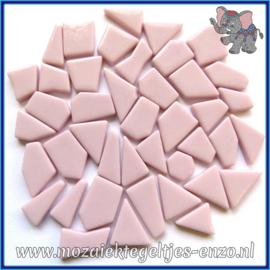 Glasmozaiek steentjes Snippets Puzzel Stukjes Normaal - Enkele Kleuren - per 50 gram - Pale Pink
