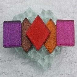 "- Glitter 2 x 2 cm - Rainbow-Fire-""S"""
