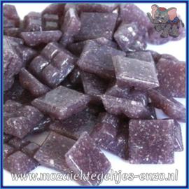 Glasmozaiek tegeltjes - Basic Line - 1 x 1 cm - Enkele Kleuren - per 60 steentjes - Mini Dark Violet A44