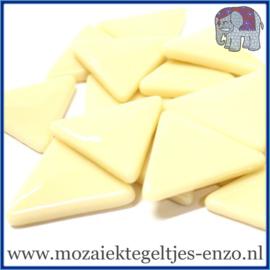 Glasmozaiek steentjes - Art Angles Gewoon - 29 mm - Enkele Kleuren - per 1 kilo - Cream