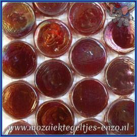 Glasmozaiek steentjes - Radiant Round Parelmoer - 18 mm - Enkele Kleuren - per 1 stuk - Burma