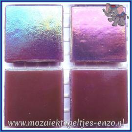 Glasmozaiek tegeltjes - Parelmoer - 2 x 2 cm - Enkele Kleuren - per 20 steentjes - Amethyst