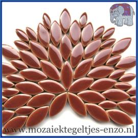 Keramische mozaiek steentjes - Petals Bloemblaadjes Normaal - 14 en 21 mm - Enkele Kleuren - per 50 gram - Burnt Siena
