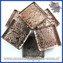 Glasmozaiek tegeltjes - Foil - 2 x 2 cm - Enkele Kleuren - per 20 steentjes - Pewter