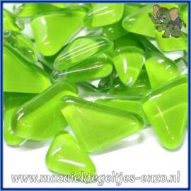 Glasmozaiek steentjes - Soft Glass Puzzles Normaal - Enkele Kleuren - per 50 gram - Key Lime Pie
