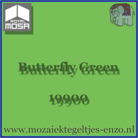 Binnen wandtegel Royal Mosa - Glanzend - 7,5 x 7,5 cm - Op maat gesneden - Butterfly Green 19900