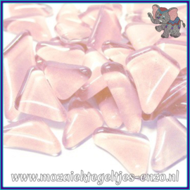 Glasmozaiek steentjes - Soft Glass Puzzles Normaal - Enkele Kleuren - per 50 gram - Dream Pink
