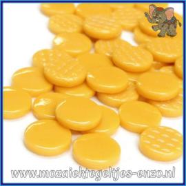 Glasmozaiek steentjes - Penny Rounds Normaal - 18 mm - Enkele Kleuren - per 50 gram - Amber Opal