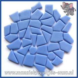 Glasmozaiek steentjes Snippets Puzzel Stukjes Normaal - Enkele Kleuren - per 50 gram - Pale Blue