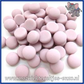 Glasmozaiek steentjes - Optic Drops Matte - 12 mm - Enkele Kleuren - per 50 gram - Pink