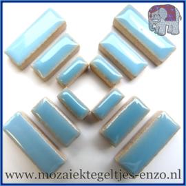 Keramische mozaiek steentjes - Keramiek Rectangles Rechthoekjes Normaal - 4, 6 en 10 mm - Enkele Kleuren - per 50 gram - Azure