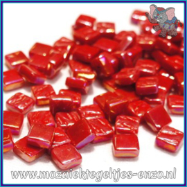 Glasmozaiek Pixel steentjes - Ottoman Parelmoer - 0,8 x 0,8 cm - Enkele Kleuren - per 50 gram - Blood Red