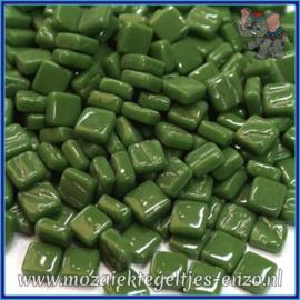 Glasmozaiek Pixel steentjes - Ottoman Normaal - 0,8 x 0,8 cm - Enkele Kleuren - per 50 gram - Pine Green