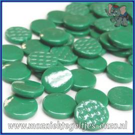 Glasmozaiek steentjes - Penny Rounds Normaal - 18 mm - Enkele Kleuren - per 50 gram - Spruce Green