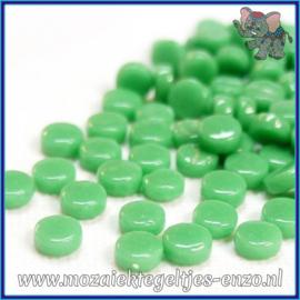 Glasmozaiek Pixel steentjes - Darling Dotz Normaal - 0,8 cm - Enkele Kleuren - per 50 gram - Meadow Green