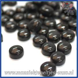 Glasmozaiek steentjes - Optic Drops Normaal - 12 mm - Enkele Kleuren - per 50 gram - Black