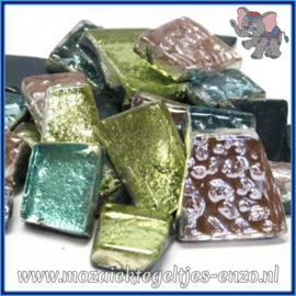 Glasmozaiek steentjes - Moonshine Measures Normaal - Gemixte Kleuren - per 50 gram - Ariel Pastel