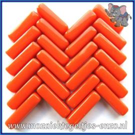 Glasmozaiek steentjes - Stix Rechthoekjes Staafjes Normaal - 6 x 20 mm - Enkele Kleuren - per 50 gram - Muted Mandarin