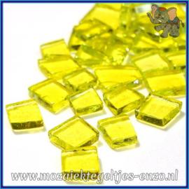 Glasmozaiek steentjes - Transparant Glass Puzzles Normaal - Enkele Kleuren - per 50 gram - Zydeco Yellow