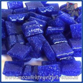 Glasmozaiek tegeltjes - Basic Line - 1 x 1 cm - Enkele Kleuren - per 60 steentjes - Mini Cobalt A20