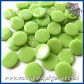 Glasmozaiek steentjes - Penny Rounds Normaal - 18 mm - Enkele Kleuren - per 50 gram - Mint Green