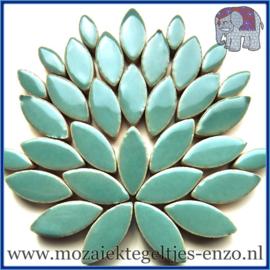 Keramische mozaiek steentjes - Petals Bloemblaadjes Normaal - 14 en 21 mm - Enkele Kleuren - per 50 gram - Phthalo Green