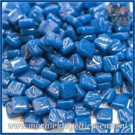 Glasmozaiek Pixel steentjes - Ottoman Normaal - 0,8 x 0,8 cm - Enkele Kleuren - per 50 gram - Dark Lake Blue
