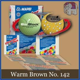 Voegmiddel - Mapei Ultracolor Plus - Binnen en buiten voegsel voor de mozaiek hobby - per 250 gram - Warm Bruin/Brown No. 142