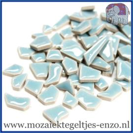 Keramische mozaiek steentjes - Keramiek Puzzel Stukjes Normaal - Enkele Kleuren - per 50 gram - Azure