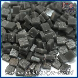 Glasmozaiek Pixel steentjes - Ottoman Matte - 0,8 x 0,8 cm - Enkele Kleuren - per 50 gram - Charcoal