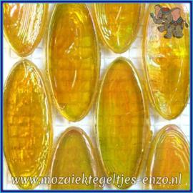 Glasmozaiek steentjes - Radiant Ellipse Parelmoer - 20 x 45 mm - Enkele Kleuren - per 1 stuk - Cote D`Or