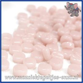 Glasmozaiek Pixel steentjes - Darling Dotz Normaal - 0,8 cm - Enkele Kleuren - per 50 gram - Pale Pink