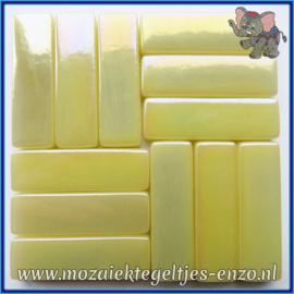Glasmozaiek steentjes - Stix Rechthoekjes Staafjes XL Parelmoer - 12 x 38 mm - Enkele Kleuren - per 50 gram - Alabaster