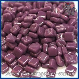 Glasmozaiek Pixel steentjes - Ottoman Normaal - 0,8 x 0,8 cm - Enkele Kleuren - per 50 gram - Deep Purple