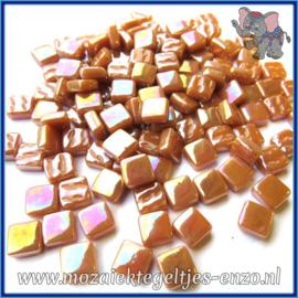 Glasmozaiek Pixel steentjes - Ottoman Parelmoer - 0,8 x 0,8 cm - Enkele Kleuren - per 50 gram - Brown Sugar