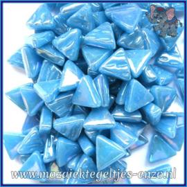 Glasmozaiek steentjes - Art Angles Parelmoer - 10 mm - Enkele Kleuren - per 50 gram - Lake Blue