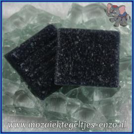 Glasmozaiek tegeltjes - Basic Line - 2 x 2 cm - Enkele Kleuren - per 20 steentjes - Asphalt SL65