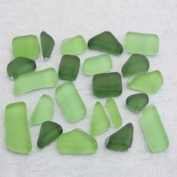 "- Glass Puzzles 50 g - Hosta-Green-""S"""