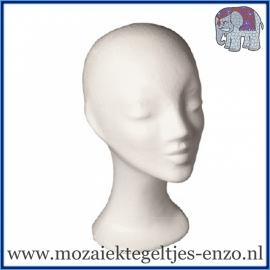 Piepschuim/Styropor - Hoofd vrouw