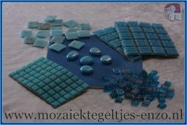 Mozaiek Kleur Pakket  Gold Line - Blauw