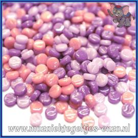 Glasmozaiek Pixel steentjes - Darling Dotz Normaal - 0,8 cm - Gemixte Kleuren - per 50 gram - Purple Ambrosia