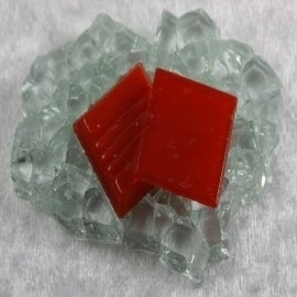 "Glasmozaïek Basic Line 2 x 2 cm - Red ""Sample"""