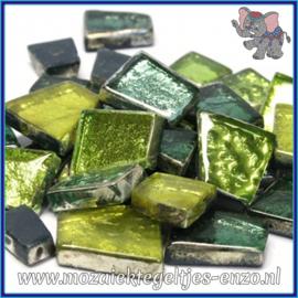 Glasmozaiek steentjes - Moonshine Measures Normaal - Gemixte Kleuren - per 50 gram - Pandora Green