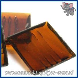 Glasmozaiek tegeltjes - Doorzichtig - 2 x 2 cm - Enkele Kleuren - per 20 steentjes - Brown