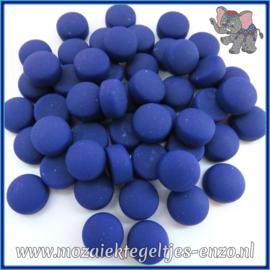 Glasmozaiek steentjes - Optic Drops Matte - 12 mm - Enkele Kleuren - per 50 gram - Cobalt