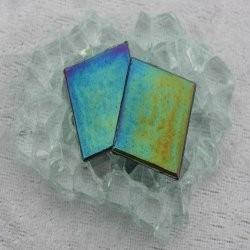 """- Nebula 2 x 2 cm - Jet-Black-""""S"""""""