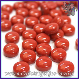 Glasmozaiek steentjes - Optic Drops Normaal - 12 mm - Enkele Kleuren - per 50 gram - Blood Red