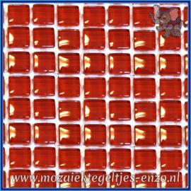 Glasmozaiek tegeltjes - Murrini Crystal - 1 x 1 cm - Enkele Kleuren - per 60 steentjes - Mini Red Burgundy