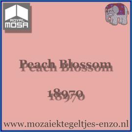 Binnen wandtegel Royal Mosa - Glanzend - 7,5 x 7,5 cm - Op maat gesneden - Peach Blossom 18970